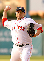 Pawtucket Red Sox starting pitcher Charlie Zink at McCoy Stadium in Pawtucket, RI 4-30-09 (Photo by Ken Babbitt/Four Seam Images)