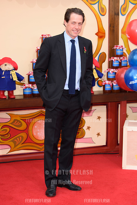 Hugh Grant at the &quot;Paddington 2&quot; premiere at the NFT South Bank, London, UK. <br /> 05 November  2017<br /> Picture: Steve Vas/Featureflash/SilverHub 0208 004 5359 sales@silverhubmedia.com