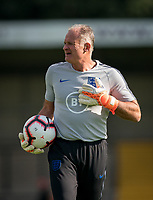England Goalkeeping coach during the Under 18 International friendly match between England U18 & Brazil U18 at Hednesford Town Football Club, Keys Park, Cannock on 8 September 2019. Photo by Andy Rowland.