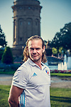 Mannheim, Germany, August 30: Photoshooting with Mannheimer HC on August 30, 2019 at Wasserturm in Mannheim, Germany. (Photo by Dirk Markgraf / www.265-images.com) ***
