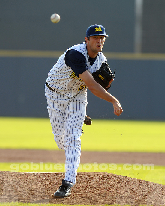 The University of Michigan baseball team defeats the Ontario Blue Jays 24-1 (14 inn., exhibition) at the Wilpon Complex in Ann Arbor, Mich.