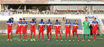 20 May 2014: U.S. starters. From left: Andrija Novakovich, Ian Harkes, Alan Winn, Jesus Vazquez, Ahinga Selemani, Jacori Hayes, Jake Rozhansky, Caleb Duvernay, Travis Wannemuehler, Evan Loura, Connor Donovan. The Under-20 United States Men's National Team played a scrimmage against a team composed of players from the Carolina RailHawks and the Capital Area RailHawks Academy Under-18 squad WakeMed Stadium in Cary, North Carolina. The combined RailHawks team won the game 2-1.