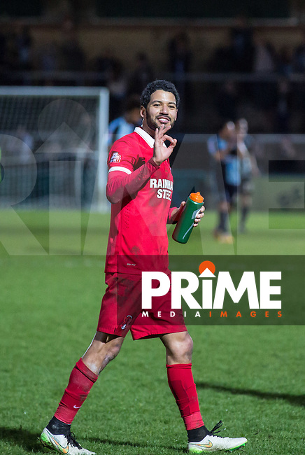 Jobi McAnuff of Leyton Orient following his sides victory during the Sky Bet League 2 match between Wycombe Wanderers and Leyton Orient at Adams Park, High Wycombe, England on 23 January 2016. Photo by Massimo Martino / PRiME Media Images.