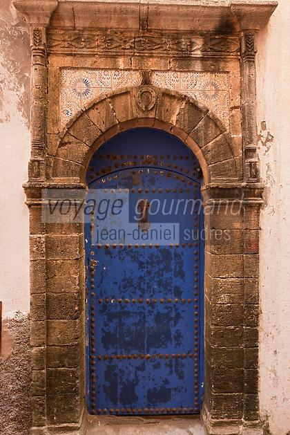 Afrique/Afrique du Nord/Maroc/Essaouira:Vieille porte dans la médina