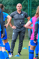 Genk's physical coach Jan Gaens pictured during a female soccer game between KRC Genk Ladies and Sporting Charleroi  on the first matchday of the 2020 - 2021 season of Belgian Women's SuperLeague , friday 28 of August 2020  in Genk , Belgium . PHOTO SPORTPIX.BE | SPP | STIJN AUDOOREN