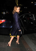 NON EXCLUSIVE PICTURE: MATRIXPICTURES.CO.UK.PLEASE CREDIT ALL USES..WORLD RIGHTS..Australian singer and actress Kylie Minogue is pictured leaving London's Harrods department store after a book signing...NOVEMBER 29th 2012..REF: LTN 125616 /NortePhoto