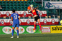 Rochester, NY - Friday June 24, 2016: Boston Breakers midfielder Stephanie Verdoia (22), Western New York Flash midfielder Samantha Mewis (5) during a regular season National Women's Soccer League (NWSL) match between the Western New York Flash and the Boston Breakers at Rochester Rhinos Stadium.