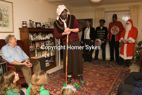 Little John, The Bampton Mummers performing Christmas Eve. Bampton Oxfordshire.   UK 2008.