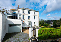 BNPS.co.uk (01202 558833)<br /> Pic: LillicrapChilcott/BNPS<br /> <br /> I predict a riot of potential home owners flocking to the Falmouth home of Kaiser Chiefs frontman Ricky Wilson.<br /> <br /> The harbourside mansion has been put up for sale with a £1.5 million asking price after the Yorkshire band have gone back on the road.<br /> <br /> Regency era Stratton House is not very Rock'n'Roll but it does contain a Great Escape replica motorbike that Wilson has never actually ridden having failed his test twice.