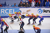 "SHORT TRACK: MOSCOW: Speed Skating Centre ""Krylatskoe"", 14-03-2015, ISU World Short Track Speed Skating Championships 2015, Semifinals Relay Men, HUNGARY, RUSSIA, NETHERLANDS, GREAT BRITAIN ©photo Martin de Jong"