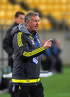 Phoenix coach Ernie Merrick during the A-League football match between Wellington Phoenix and Sydney FC at Westpac Stadium in Wellington, New Zealand on Sunday, 23 October 2016. Photo: Dave Lintott / lintottphoto.co.nz