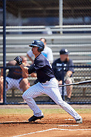 New York Yankees center fielder Blake Rutherford (23) during a minor league Spring Training game against the Detroit Tigers on March 22, 2017 at the Yankees Complex in Tampa, Florida.  (Mike Janes/Four Seam Images)