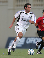 29 June 2005:  Kyle Beckerman of Rapids in action against Earthquakes at Spartan Stadium in San Jose, California.   Earthquakes defeated Rapids, 1-0.  Mandatory Credit: Michael Pimentel / ISI
