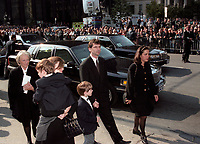 FILE PHOTO -   Francois Bourassa and his mother attend <br /> <br /> Robert Bourassa Funerals at Notre-Dame Basilica, October 20, 1996.<br /> <br /> PHOTO : Agence quebec Presse