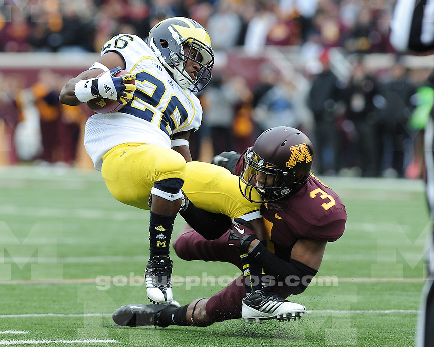 The University of Michigan football team beat Minnesota, 35-13, at TCF Bank Stadium in Minneapolis, Minn., on November 3, 2012.