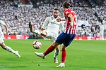 Real Madrid Dani Carvajal and Atletico de Madrid Filipe Luis during La Liga match between Real Madrid and Atletico de Madrid at Santiago Bernabeu Stadium in Madrid, Spain. September 29, 2018. (ALTERPHOTOS/Borja B.Hojas)