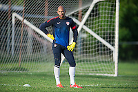 Kingston, Jamaica - Tuesday, June 4, 2013: The USMNT practices at Arnic Gardens Football Club.