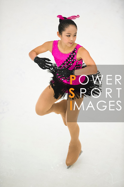 Teng Mo competes during the Asian Junior Figure Skating Challenge 2015 on October 07, 2015 in Hong Kong, China. Photo by Aitor Alcalde/ Power Sport Images