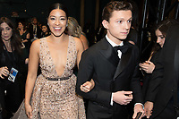 Gina Rodriguez and Tom Holland backstage during the live ABC Telecast of The 90th Oscars&reg; at the Dolby&reg; Theatre in Hollywood, CA on Sunday, March 4, 2018.<br /> *Editorial Use Only*<br /> CAP/PLF/AMPAS<br /> Supplied by Capital Pictures