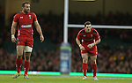 Wales centres Jamie Roberts and George North.<br /> Dove Men Series 2014<br /> Wales v Australia<br /> Millennium Stadium<br /> 08.11.14<br /> ©Steve Pope-SPORTINGWALES