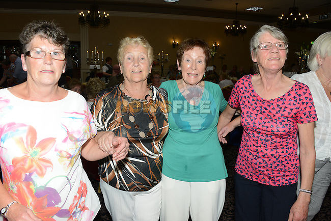 Breda Kennedy, Joan O'Grady, Tina O'Connor and Chris Lardine at the Lions Club Tea dance in the Westcourt Hotel on Sunday.