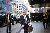 Unite States Vice President-elect Mike Pence arrives at Trump Tower in Manhattan, New York, U.S., on Tuesday, December 13, 2016. <br /> Credit: John Taggart / Pool via CNP