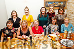 Enjoying Little Women's Christmas in Bella Bia on Saturday<br /> Seated l to r: Terry O'Connor, Michelle Greaney, Joesphine O'Shea, Hilda Jones and Emma O'Shea.<br /> Back l to r: Aine and Sarah Brosnan, Elma O'Brien, Helen Twomey and Michelle O'Sullivan.