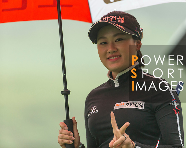 Han Sol Ji of South Korea at the 13th hole during Round 4 of the World Ladies Championship 2016 on 13 March 2016 at Mission Hills Olazabal Golf Course in Dongguan, China. Photo by Victor Fraile / Power Sport Images