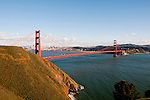 Marin Headlands; sightseeing; Golden Gate Bridge, San Francisco, California, USA.  Photo copyright Lee Foster.  Photo # california108721