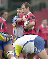 01/02/2004 Parker Pen Challenge Trophy.Saracens v Montferrand.Kryan Bracken....   [Mandatory Credit, Peter Spurier/ Intersport Images].