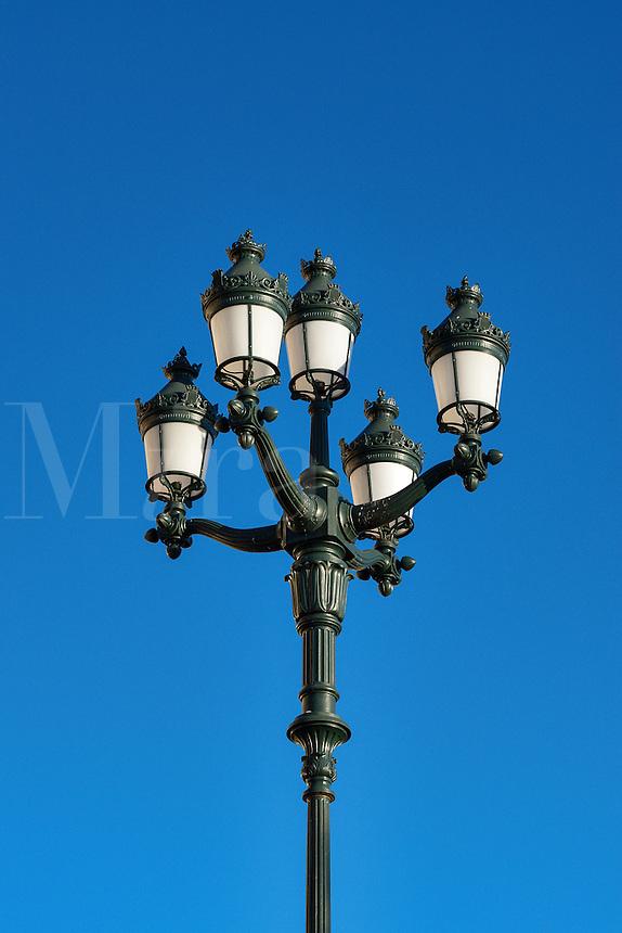 Charming traditional street lamp, Monte Carlo, Monaco