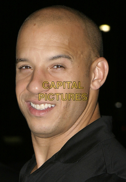 "VIN DIESEL.UK Premiere of ""The Chronicles of Riddick: Pitch Black 2"", Vue Cinema, London,.9th August 2004..portrait headshot black shirt.Ref: AH.www.capitalpictures.com.sales@capitalpictures.com.©Capital Pictures."
