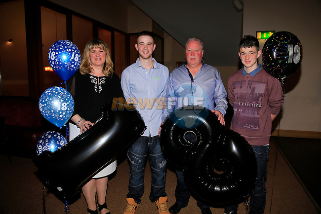Tony O'Hare 18th in the Tatch with Rita Paul Vincent<br /> Picture:  www.newsfile.ie