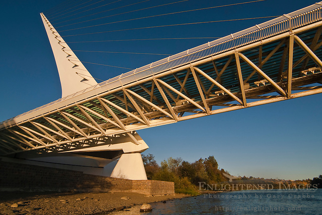 The Sundial Bridge, over the Sacramento River, Redding, California