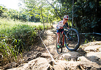 Picture by Alex Broadway/SWpix.com - 06/09/17 - Cycling - UCI 2017 Mountain Bike World Championships - XCO - Cairns, Australia - Annie Last of Great Britain competes in the Cross Country Team Relay.
