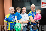 Phil McCarthy, John L McElligott, John McCarthy, Thomas McCarthy and Lelia McCarthy, all from Ardfert, pictured at the Tour De Munster, arriving in Tralee on Friday evening last.