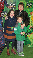Kerry Godliman and kids at the OVO by Cirque du Soleil press night, Royal Albert Hall, Kensington Gore, London, England, UK, on Wednesday 10 January 2018.<br /> CAP/CAN<br /> &copy;CAN/Capital Pictures