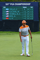 Rickie Fowler (USA) watches his putt on 5 during round 4 of the 2019 PGA Championship, Bethpage Black Golf Course, New York, New York,  USA. 5/19/2019.<br /> Picture: Golffile | Ken Murray<br /> <br /> <br /> All photo usage must carry mandatory copyright credit (© Golffile | Ken Murray)