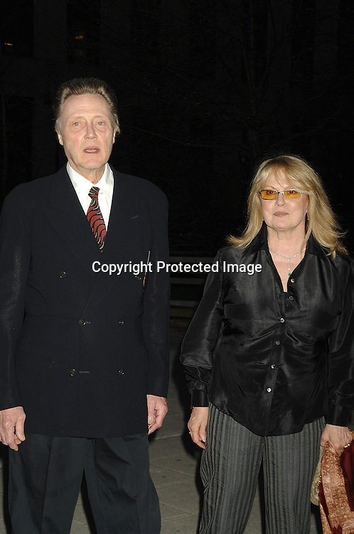 Christopher Walken and wife Georgianne..arriving at The Vanity Fair Party to celebrate the 6th Annual ..Tribeca Film Festival on April 24, 2007 at The State Supreme Courthouse. ..Robin Platzer, Twin Images