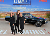 "LOS ANGELES, USA. October 08, 2019: Nina Yankovic, Weird Al Yankovic & Suzanne Yankovic at the premiere of ""El Camino: A Breaking Bad Movie"" at the Regency Village Theatre.<br /> Picture: Paul Smith/Featureflash"