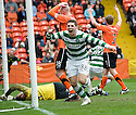 17/10/2010   Copyright  Pic : James Stewart.sct_jsp015_dundee_utd_v_celtic  .:: GARY HOOPER CELEBRATES AFTER HE SCORES CELTIC'S LATE WINNER :: .James Stewart Photography 19 Carronlea Drive, Falkirk. FK2 8DN      Vat Reg No. 607 6932 25.Telephone      : +44 (0)1324 570291 .Mobile              : +44 (0)7721 416997.E-mail  :  jim@jspa.co.uk.If you require further information then contact Jim Stewart on any of the numbers above.........