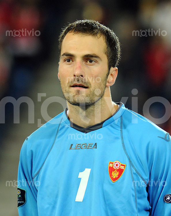 FUSSBALL INTERNATIONAL  EM 2012-Qualifikation  Gruppe G   11.10.2011 Schweiz - Montenegro Mladen BOZOVIC (Montenegro)
