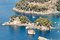 The islet of Panagia in Parga, Greece