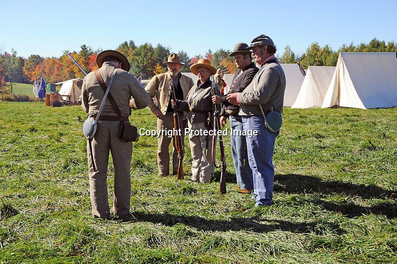 Civil War Reenactment Confederate Camp Rifle Drill
