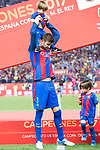 FC Barcelona's defender Gerard Pique with his son after Copa del Rey (King's Cup) Final between Deportivo Alaves and FC Barcelona at Vicente Calderon Stadium in Madrid, May 27, 2017. Spain.<br /> (ALTERPHOTOS/BorjaB.Hojas)