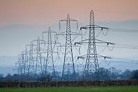 Electricity pylons, Oxfordshire, United Kingdom
