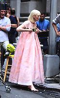 NEW YORK, NY-July 24: Tida Swinton shooting on location for Netflix & Plan B Enterainment  film Okja in New York. NY July 24, 2016. Credit:RW/MediaPunch