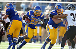 BROOKINGS, SD - NOVEMBER 5:  Mikey Daniel #26 from South Dakota State looks for running room against Missouri State in the first half Saturday afternoon at Dana J. Dykhouse Stadium in Brookings. (Photo by Dave Eggen/Inertia)