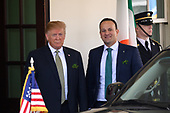 United States President Donald J. Trump welcomes Prime Minister of Ireland Leo Varadkar to the White House. Credit: Erin Scott / CNP