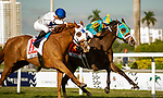 January 25, 2020: #11, Spooky Channel, the 5 year old gelding by English Channel bombs the field at 35-1 in the 52nd running of the W.L. McKnight (Grade III) for Trainer Brian Lynch at Gulfstream Park on January 25, 2020 in Hallandale Beach, FL. (Photo by Carson Dennis/Eclipse Sportswire/CSM)